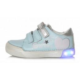 Šviesiai mėlyni LED batai...