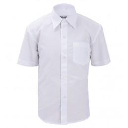 Balti marškiniai trumpomis...