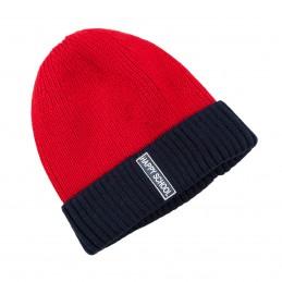 Raudona megzta kepurė...