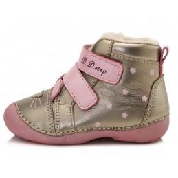 Auksinės spalvos batai su...